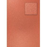 "A4 kartonas su blizgesiu ""Glitter Dark Copper"""