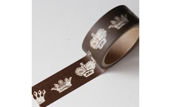 """Lipni popierinė juostelė """"Masking Tape Brown Crown"""""""