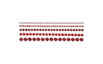 """Pusiniai perliukai priklijuojami """"Red"""", 140vnt."""