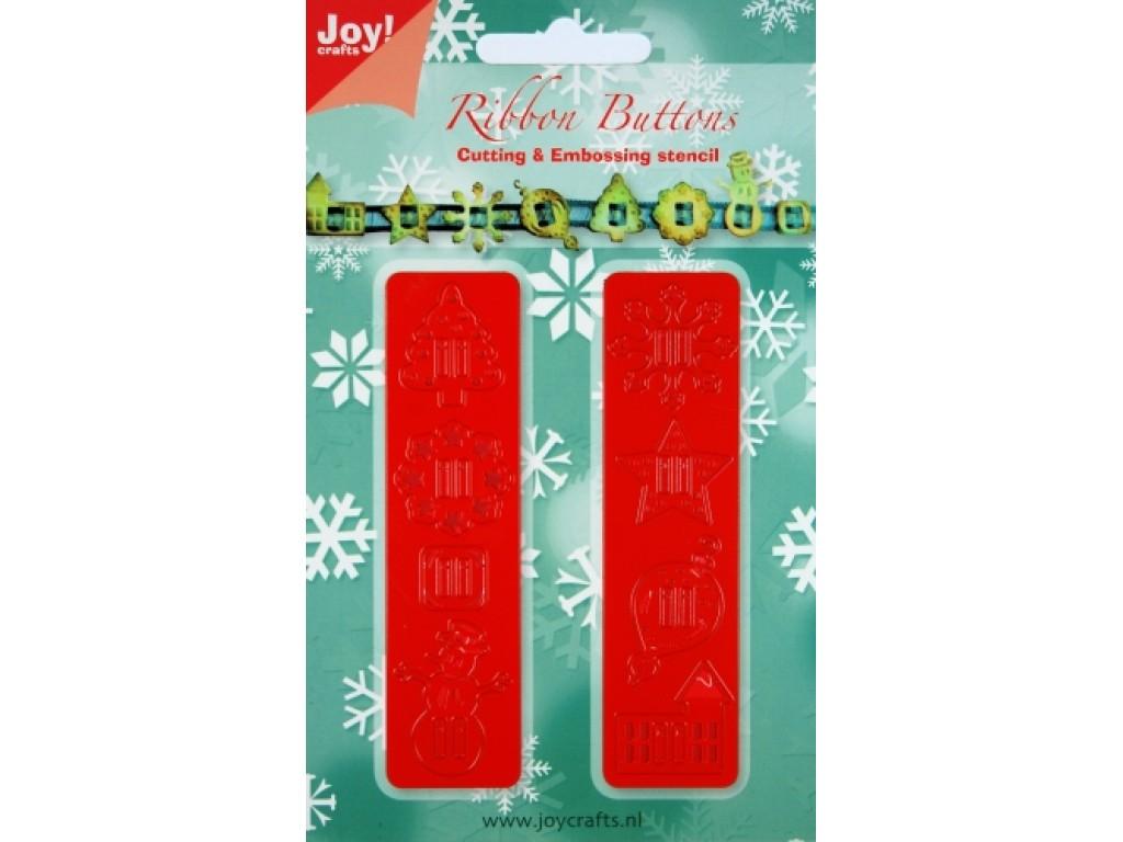 """Kirtimo ir reljefo formelė """"Christmas Ribbon Buttons"""""""