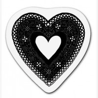 "Akriliniai antspaudukai ""heart crochet large"""