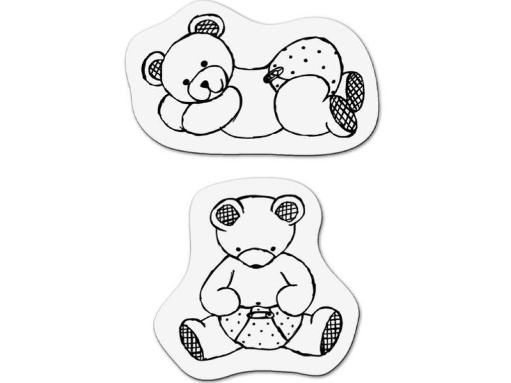 """Akriliniai antspaudukai """"Baby bears 1"""""""