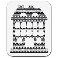 "Akriliniai antspaudukai ""House with christmas ornaments"""