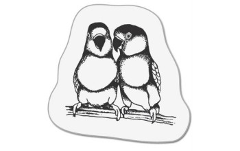 "Akriliniai antspaudukai ""two Small parrots"""