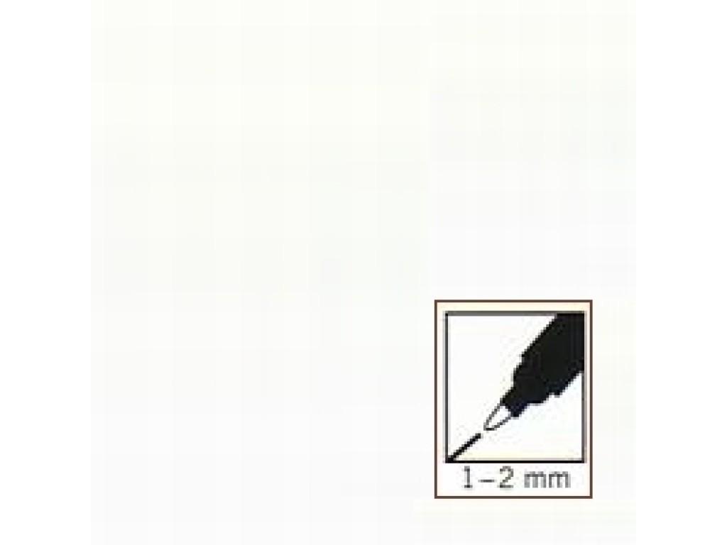 "Baltas rašiklis porceliano/stiklo dekoravimui ""White"", 1-2mm"