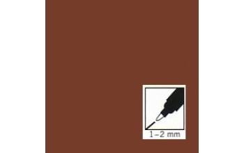 """Rudas rašiklis porceliano/stiklo dekoravimui """"Brown"""", 1-2mm"""