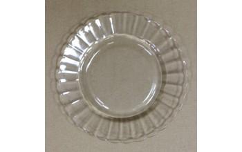 Stiklo lėkštė bangelėmis, 20cm