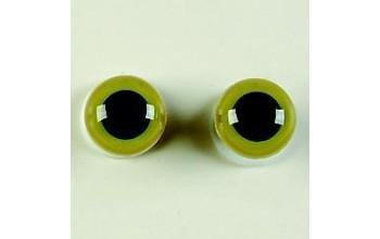 Žalios akys 1cm, 2vnt.