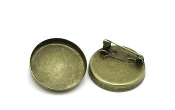 Ruošinys sagei antikinio žalvario spalvos, 26mm kabošonui