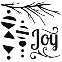 """Akriliniai antspaudukai """"Yuletide - Joy"""""""