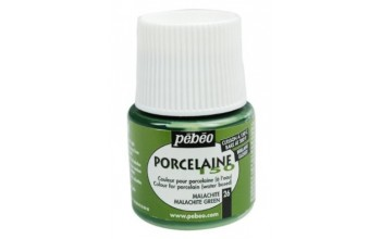 "Blizgūs dažai porcelianui ""Pebeo Porcelaine 150, Malachite Green"", 45ml"