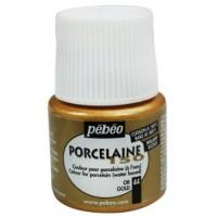 """Blizgūs dažai porcelianui """"Pebeo Porcelaine 150, Gold"""", 45ml"""