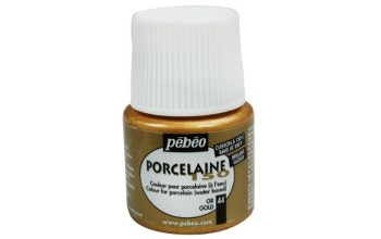 "Blizgūs dažai porcelianui ""Pebeo Porcelaine 150, Gold"", 45ml"