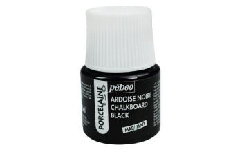 "Kreidinės lentos efekto dažai porcelianui ""Pebeo Porcelaine 150, Chalkboard Black"", 45ml"