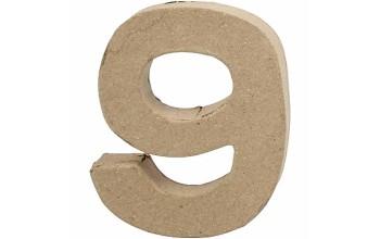 """Tūrinis kartoninis skaičius dekoravimui """"9"""", 10cm"""