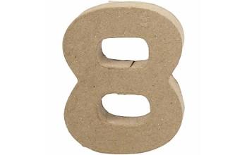 """Tūrinis kartoninis skaičius dekoravimui """"8"""", 10cm"""