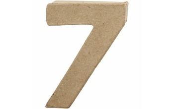 """Tūrinis kartoninis skaičius dekoravimui """"7"""", 10cm"""