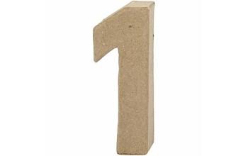 """Tūrinis kartoninis skaičius dekoravimui """"1"""", 10cm"""