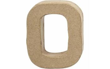 """Tūrinis kartoninis skaičius dekoravimui """"0"""", 10cm"""