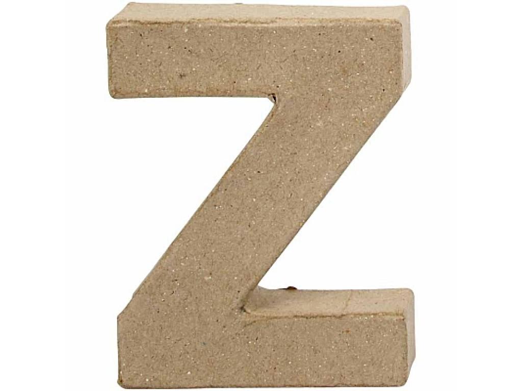 """Tūrinė kartoninė raidė dekoravimui """"Z"""", 10cm"""