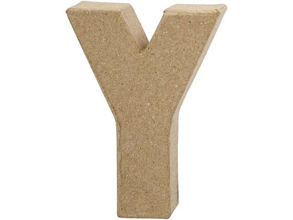 """Tūrinė kartoninė raidė dekoravimui """"Y"""", 10cm"""
