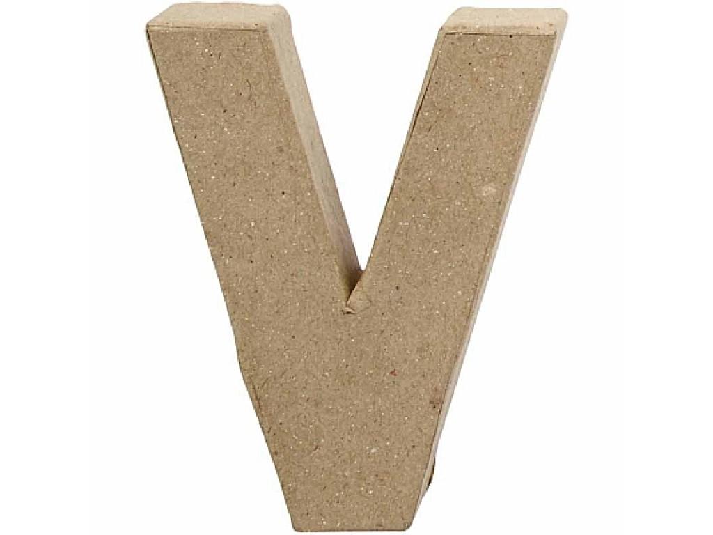 """Tūrinė kartoninė raidė dekoravimui """"V"""", 10cm"""