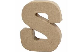 """Tūrinė kartoninė raidė dekoravimui """"S"""", 10cm"""