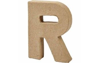 """Tūrinė kartoninė raidė dekoravimui """"R"""", 10cm"""