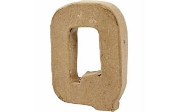"""Tūrinė kartoninė raidė dekoravimui """"Q"""", 10cm"""