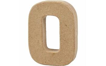 """Tūrinė kartoninė raidė dekoravimui """"O"""", 10cm"""