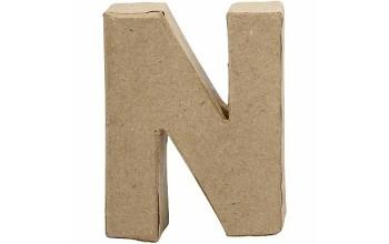 """Tūrinė kartoninė raidė dekoravimui """"N"""", 10cm"""