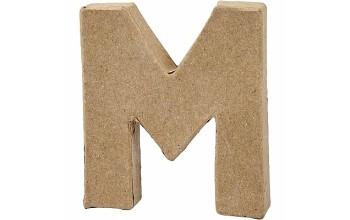 """Tūrinė kartoninė raidė dekoravimui """"M"""", 10cm"""