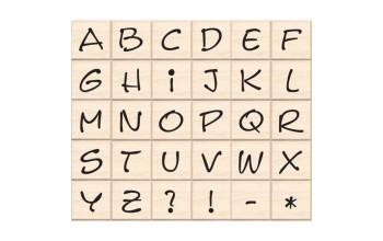 """Guminiai antspaudukai """"Hand-Lettered Alphabet"""", 30vnt."""