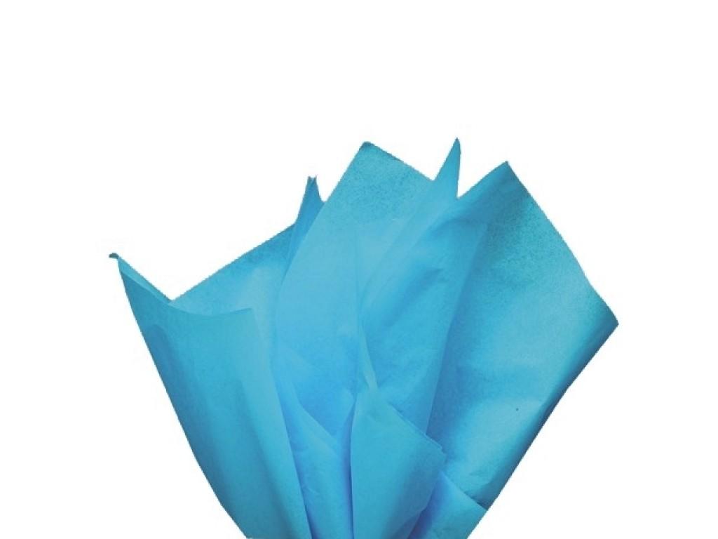 "Tissue šilko popierius ""Turkio mėlyna / Turquoise F022"", 50vnt."