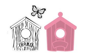 """Kirtimo ir reljefo formelė su antspaudais """"Collectables Birdhouse Home"""""""