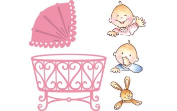 """Kirtimo ir reljefo formelė su antspaudais """"Collectables Elines Baby"""""""