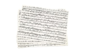 "A4 popierius ""Kraft paper Cream Music Notes"", 1 lapas"