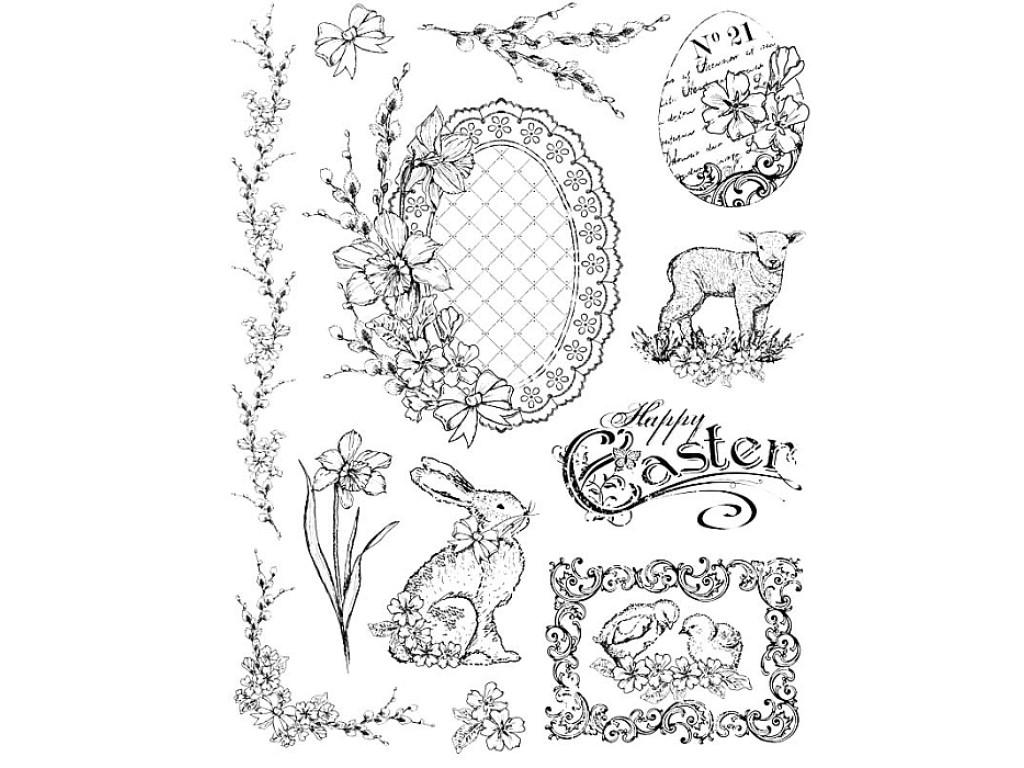 """Akriliniai antspaudukai """"Easter Motives Nostalgic"""""""