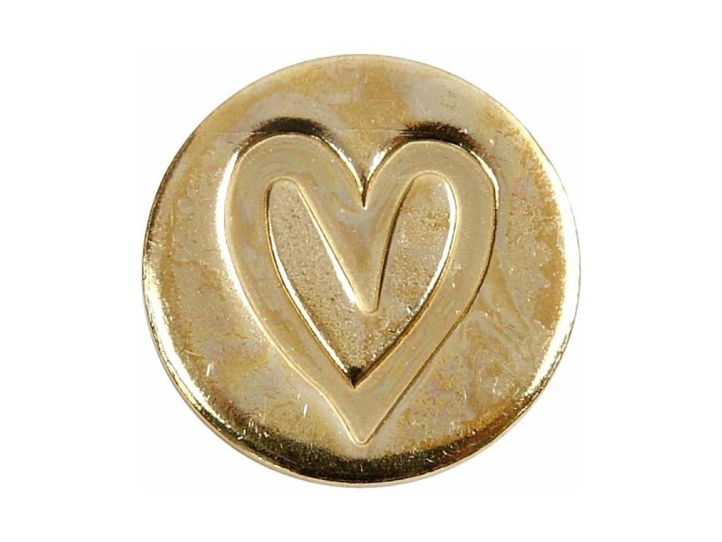 """Metalinis vaško antspaudo motyvas """"Heart"""""""