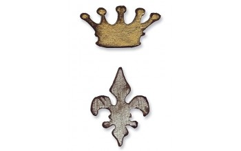 "Kirtimo formelė ""Movers & Shapers Mini Crown and Fleur de lis"""