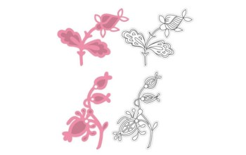 """Kirtimo ir reljefo formelė su antspaudais """"Collectables Two flowers"""""""