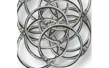 Apvalus sidabro spalvos žiedas albumams, 4.5cm