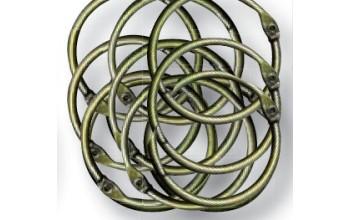 Apvalus žalvario spalvos žiedas albumams, 2,5cm