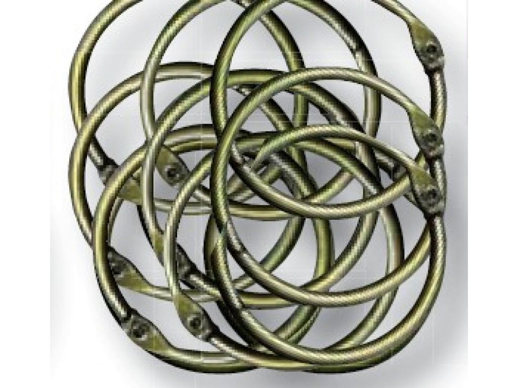 Apvalus žalvario spalvos žiedas albumams, 4cm