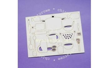 """Kartoninė formelė """"Delicious-8: virtuvės įrankiai"""", 17vnt."""