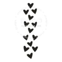 """Akriliniai antspaudukai """"Širdelės"""", 1vnt."""