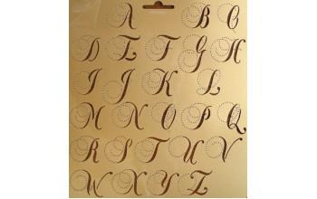 "Plastikinis trafaretas ""Alphabet stencil nr. 1"""