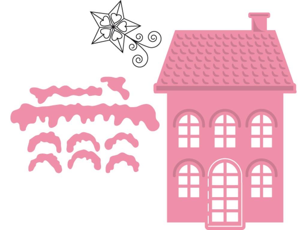 """Kirtimo ir reljefo formelė su antspaudais """"Collectables Christmas Village High"""""""