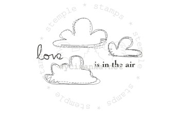 "Akriliniai antspaudukai ""Love is in the air"", 8vnt."