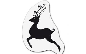 """Akriliniai antspaudukai """"Small Reindeer Jumping"""""""